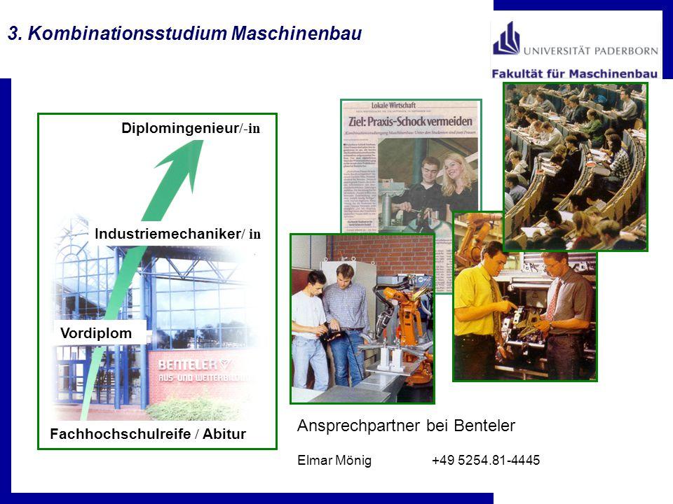 3. Kombinationsstudium Maschinenbau