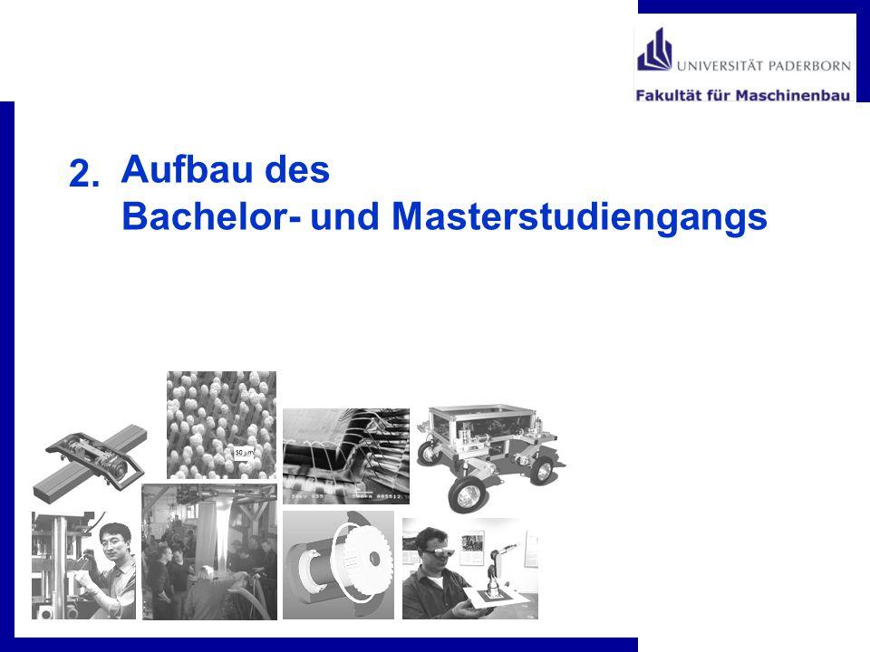 2. Aufbau des Bachelor- und Masterstudiengangs