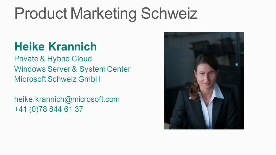 Product Marketing Schweiz