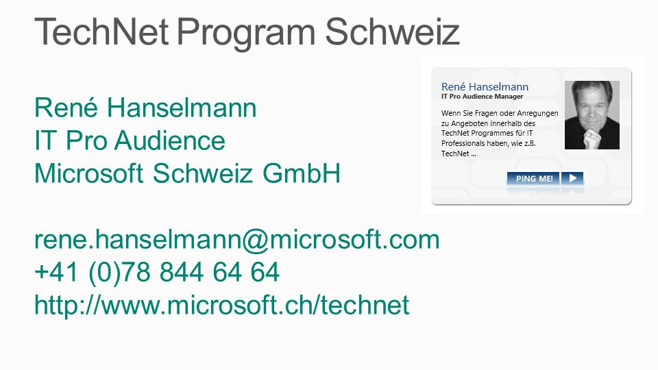 TechNet Program Schweiz