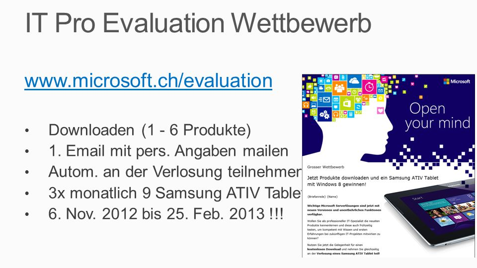 IT Pro Evaluation Wettbewerb