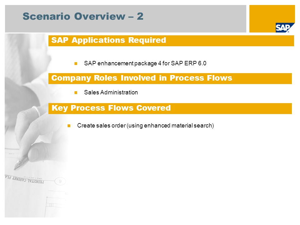 Scenario Overview – 2 SAP Applications Required