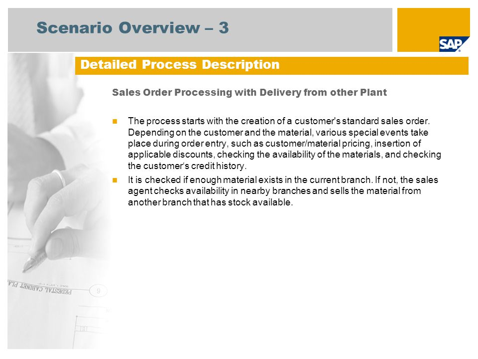 Scenario Overview – 3 Detailed Process Description