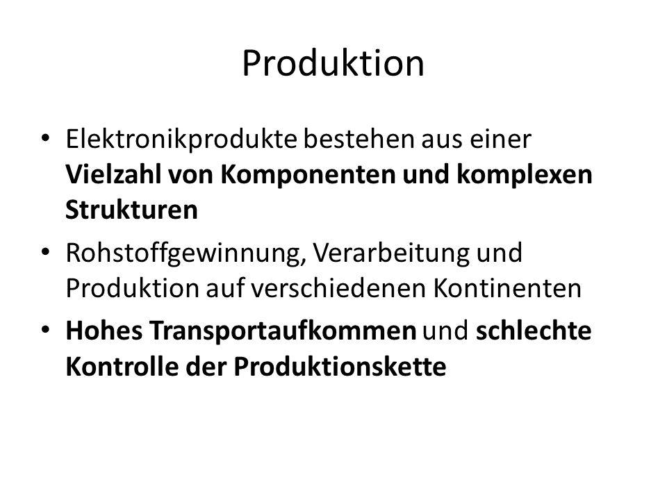 Produktion Elektronikprodukte bestehen aus einer Vielzahl von Komponenten und komplexen Strukturen.
