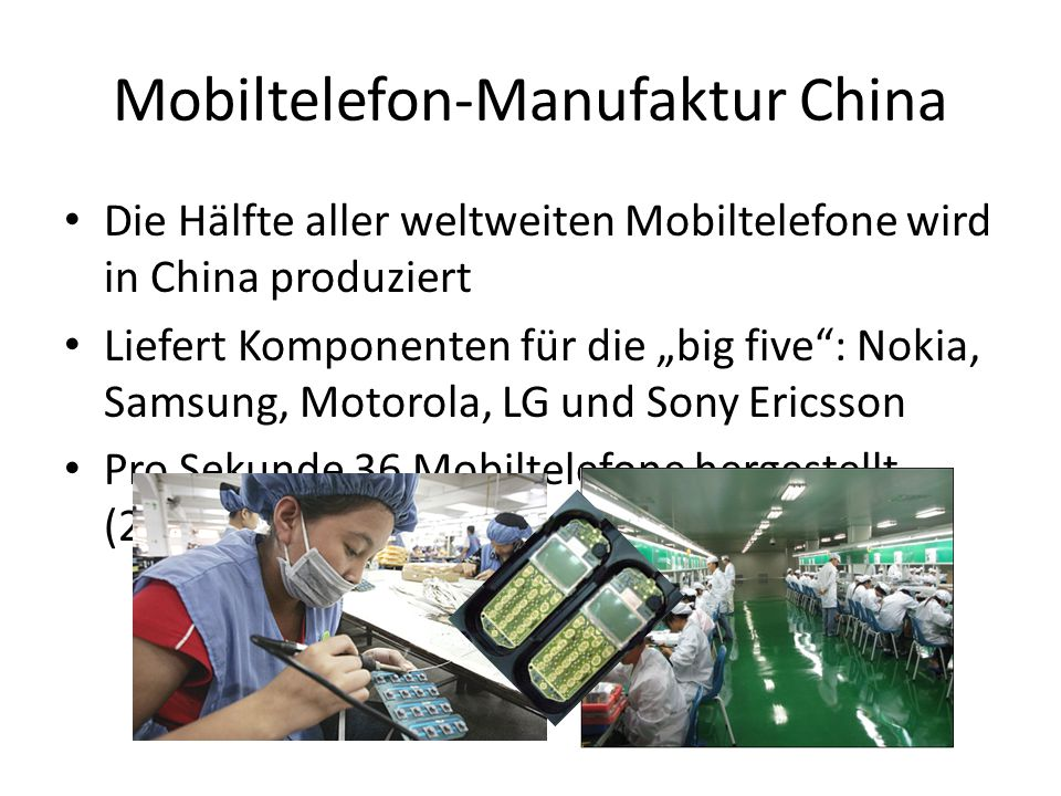 Mobiltelefon-Manufaktur China