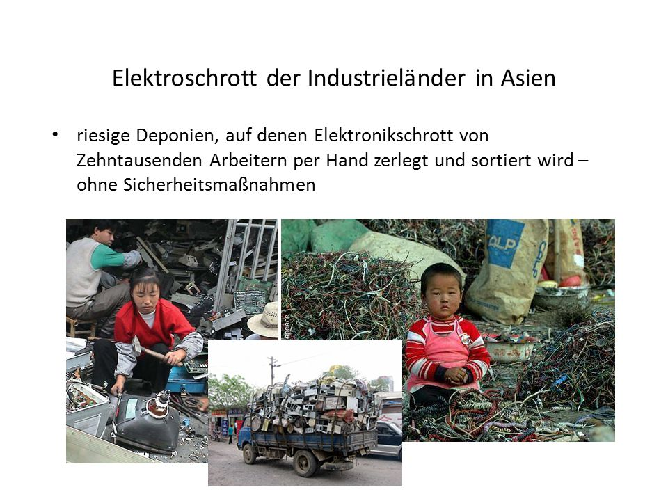 Elektroschrott der Industrieländer in Asien