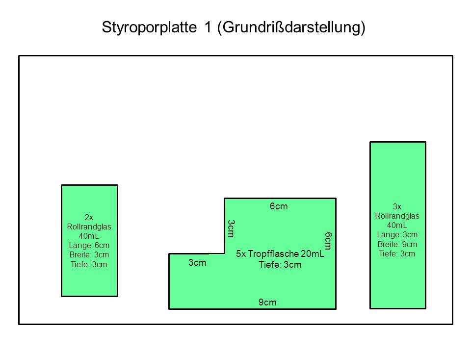 Styroporplatte 1 (Grundrißdarstellung)