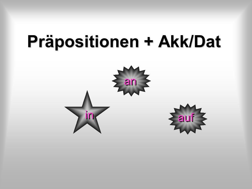 Präpositionen + Akk/Dat