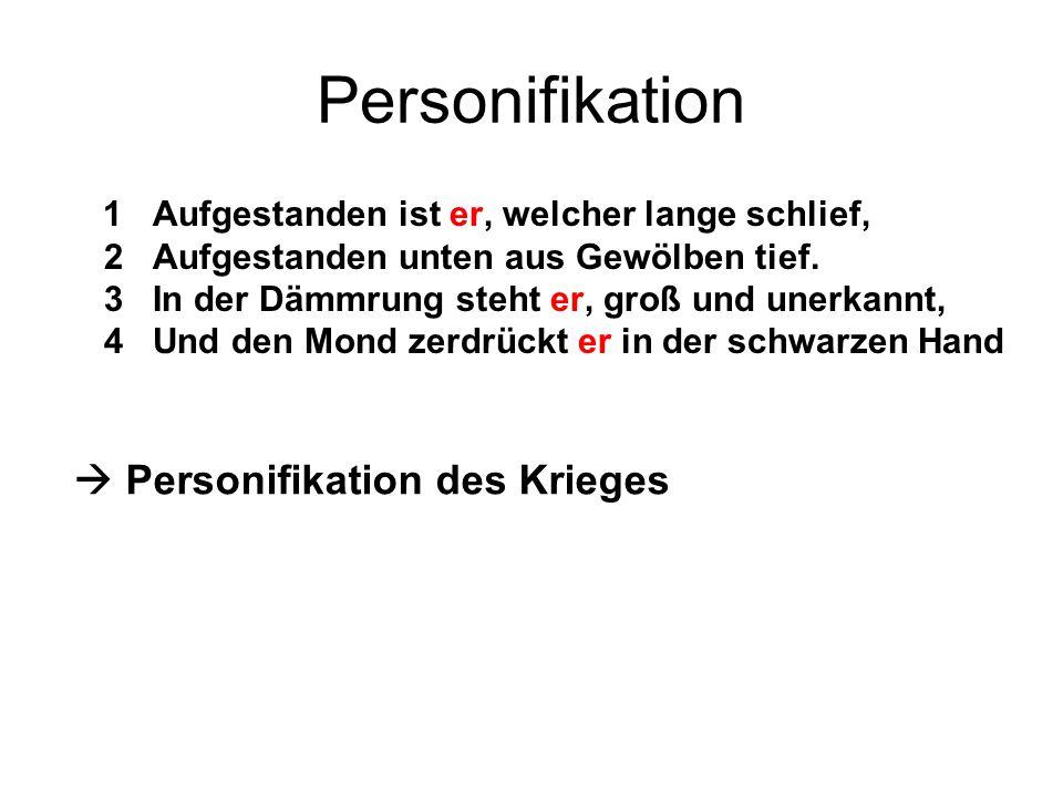 Personifikation  Personifikation des Krieges
