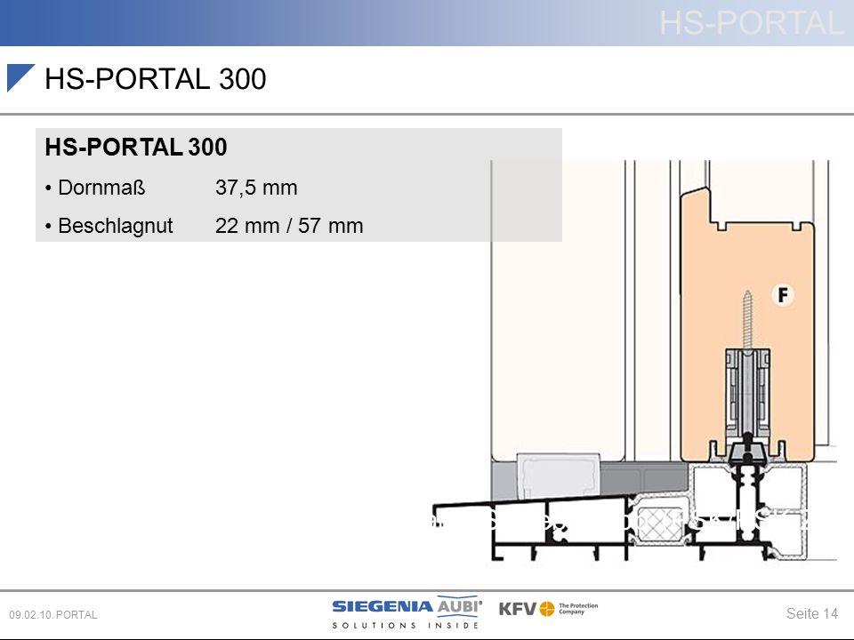 HS-PORTAL 300 Hebe-Schiebe (HS) Schiebe (PD, CS)
