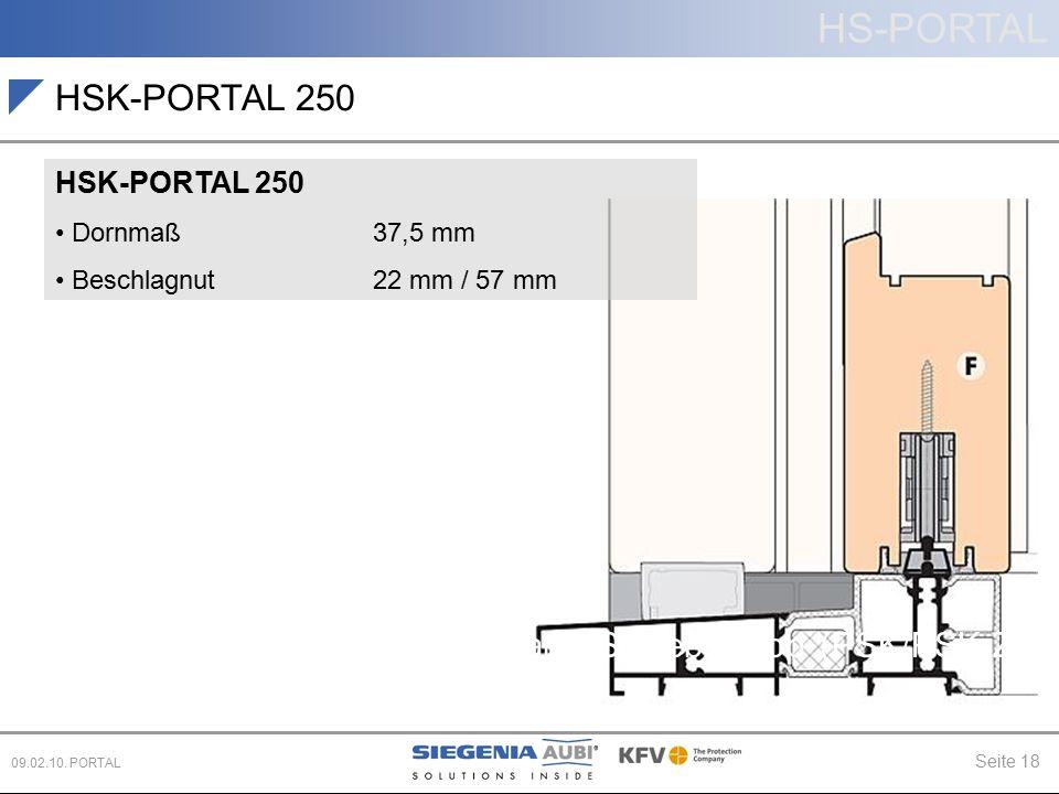 HSK-PORTAL 250 Hebe-Schiebe (HS) Schiebe (PD, CS)