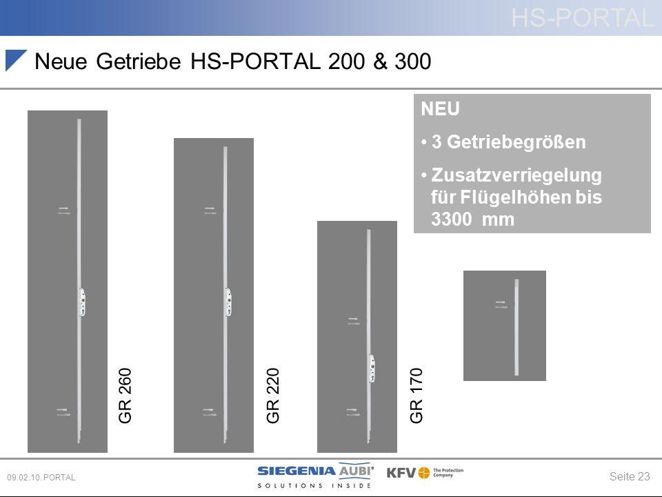 Neue Getriebe HS-PORTAL 200 & 300