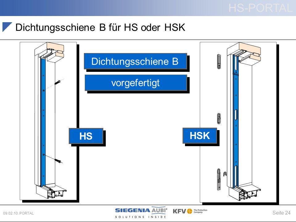 Dichtungsschiene B für HS oder HSK
