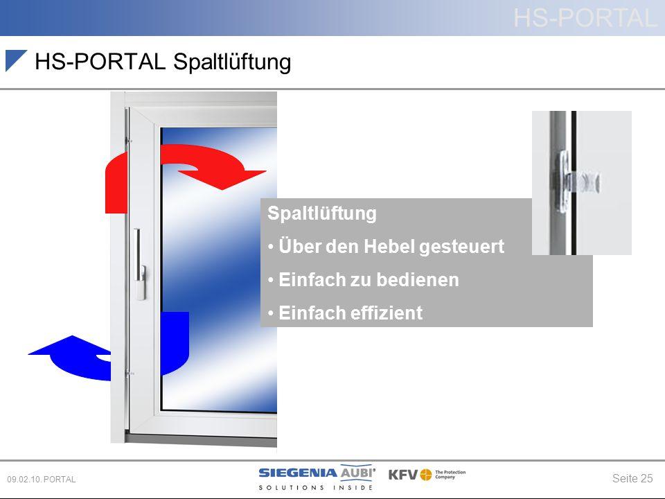 HS-PORTAL Spaltlüftung