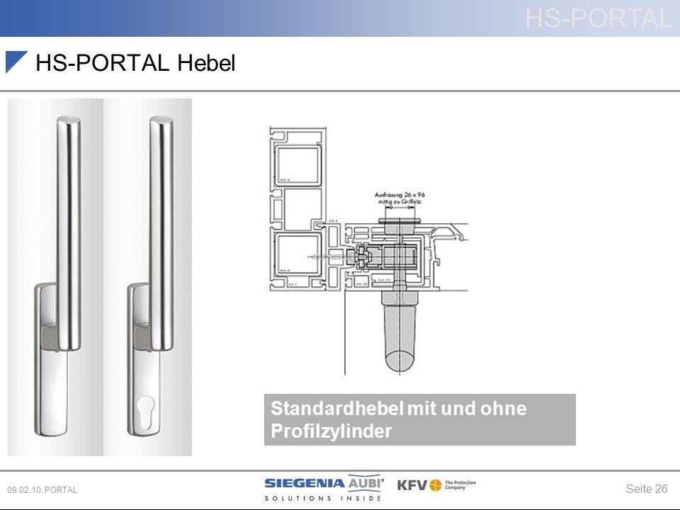 HS-PORTAL Hebel Standardhebel mit und ohne Profilzylinder