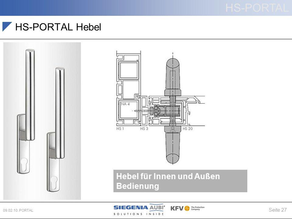 HS-PORTAL Hebel Hebel für Innen und Außen Bedienung