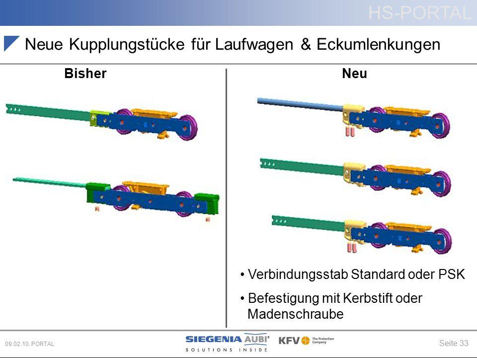 Neue Kupplungstücke für Laufwagen & Eckumlenkungen