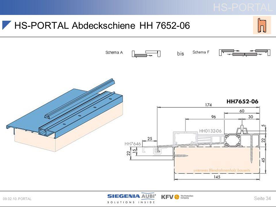HS-PORTAL Abdeckschiene HH 7652-06