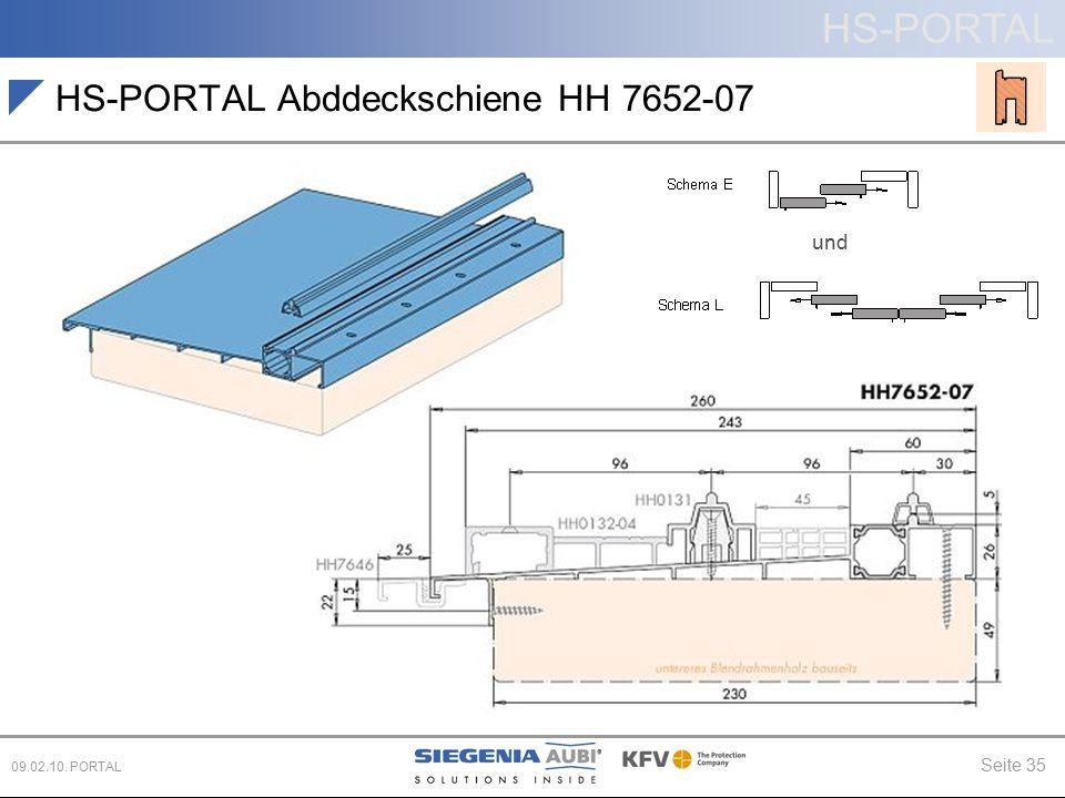HS-PORTAL Abddeckschiene HH 7652-07