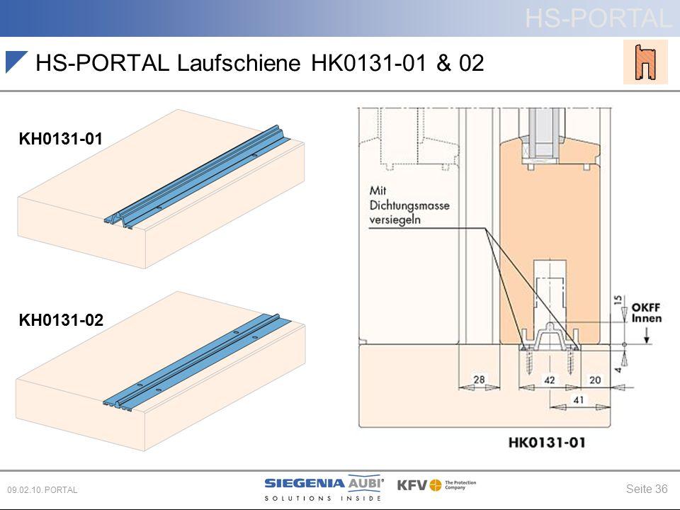 HS-PORTAL Laufschiene HK0131-01 & 02