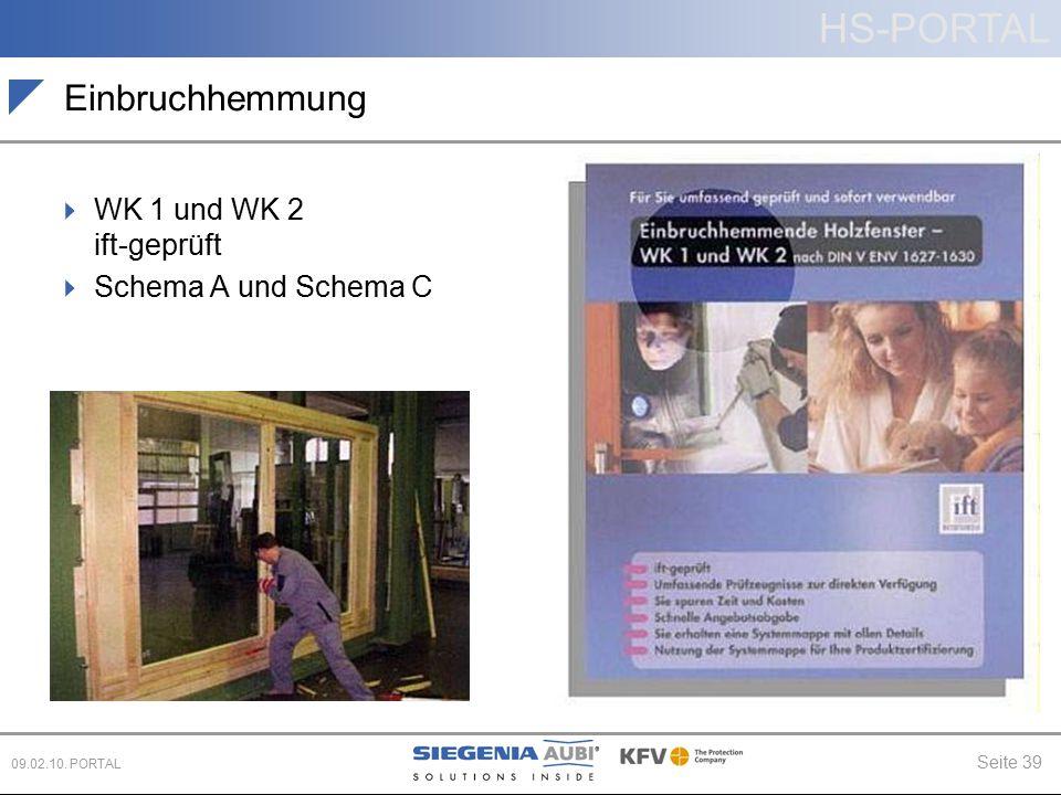 Einbruchhemmung WK 1 und WK 2 ift-geprüft Schema A und Schema C