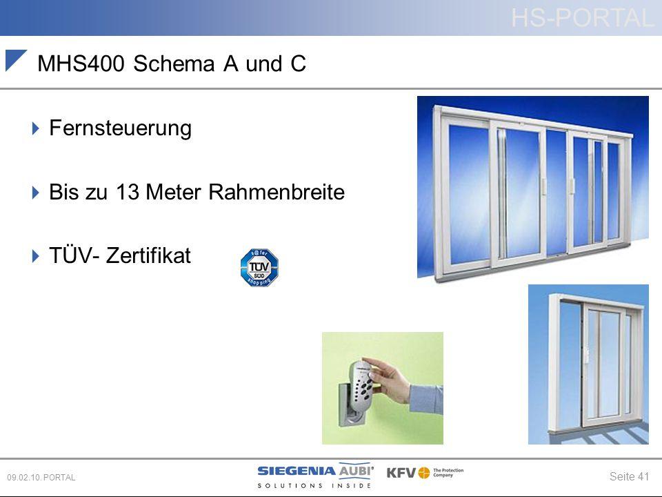 MHS400 Schema A und C Fernsteuerung Bis zu 13 Meter Rahmenbreite