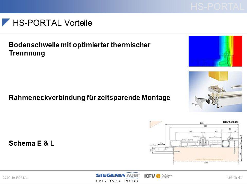 HS-PORTAL Vorteile Bodenschwelle mit optimierter thermischer Trennnung