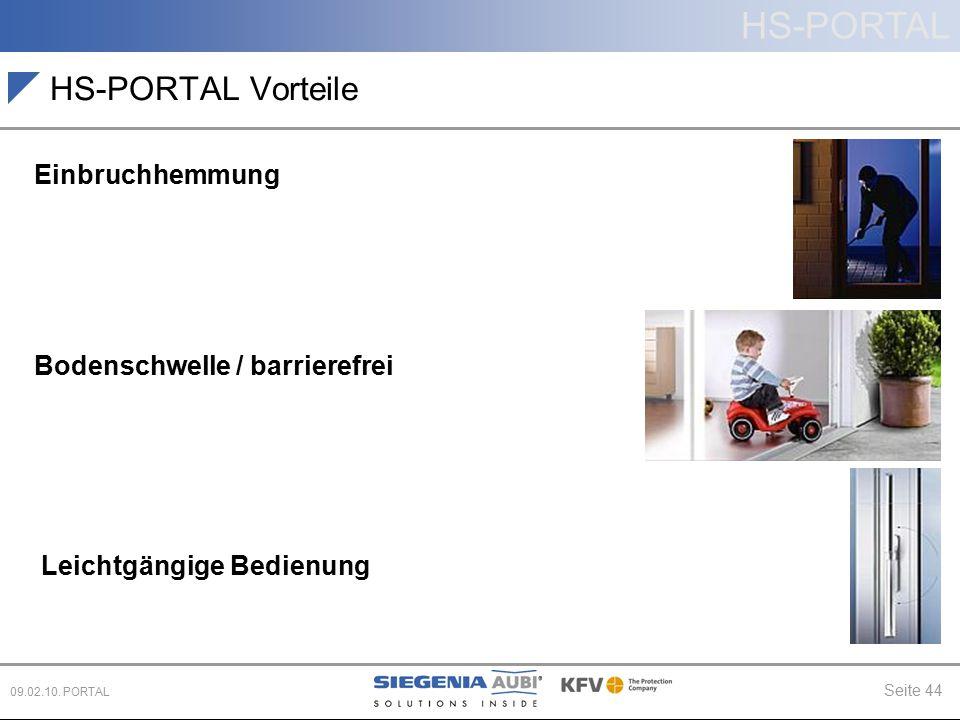 HS-PORTAL Vorteile Einbruchhemmung Bodenschwelle / barrierefrei