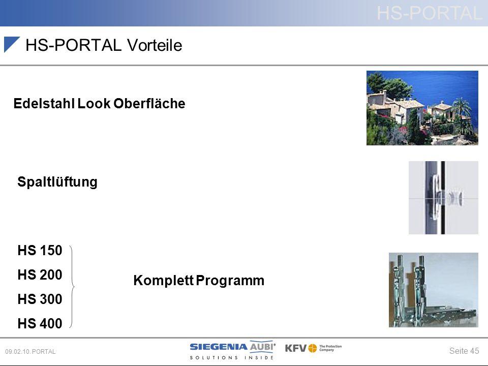 HS-PORTAL Vorteile Edelstahl Look Oberfläche Spaltlüftung HS 150