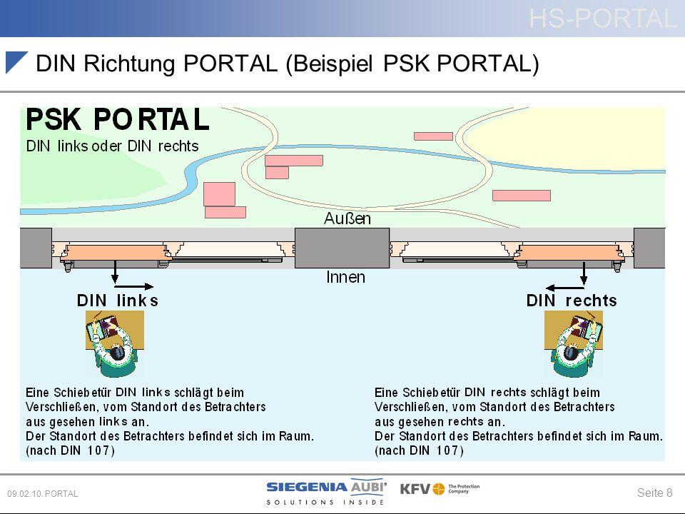 DIN Richtung PORTAL (Beispiel PSK PORTAL)