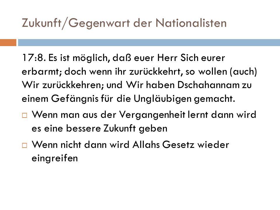 Zukunft/Gegenwart der Nationalisten