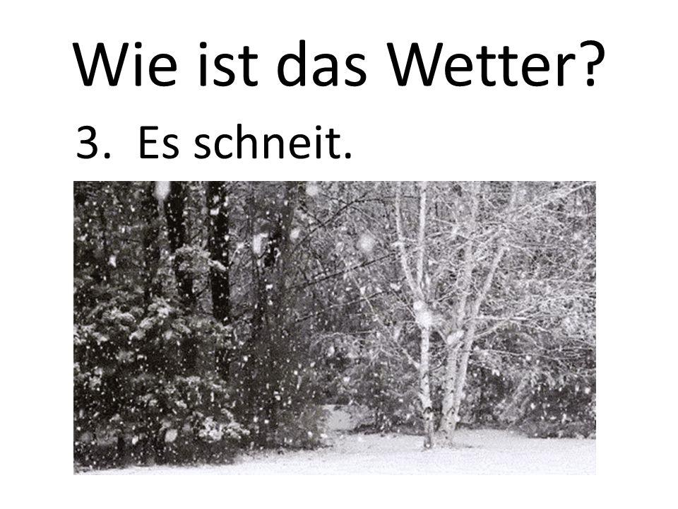 Wie ist das Wetter 3. Es schneit.