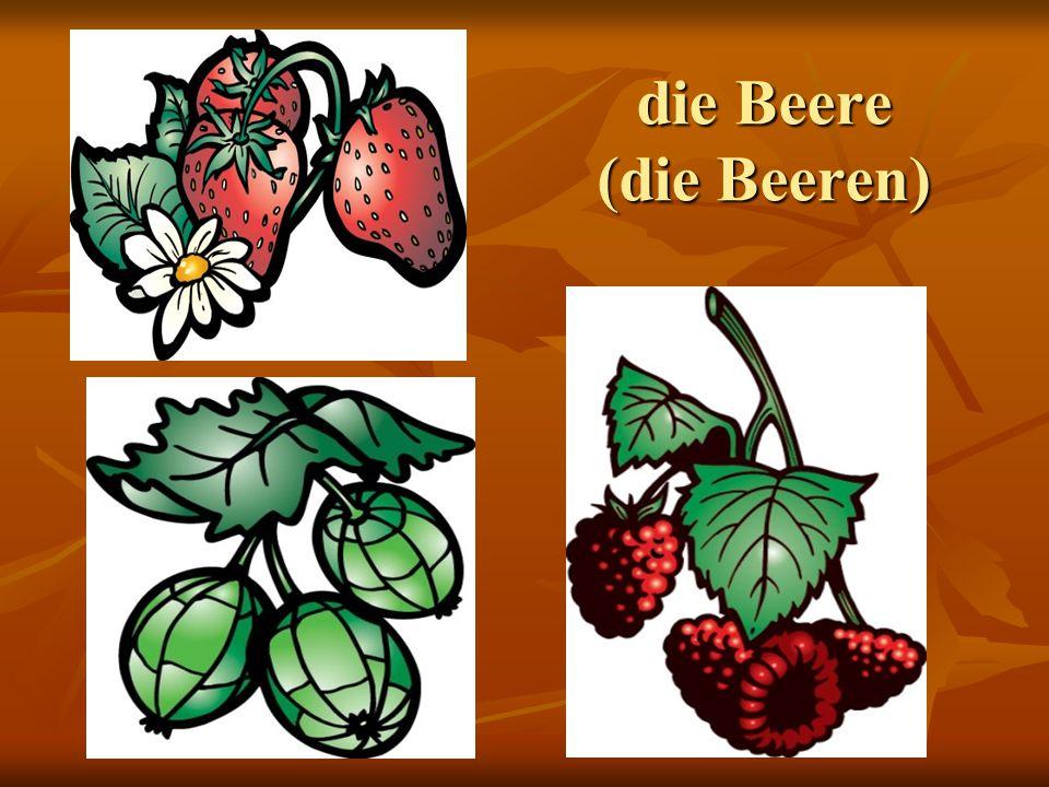 die Beere (die Beeren)