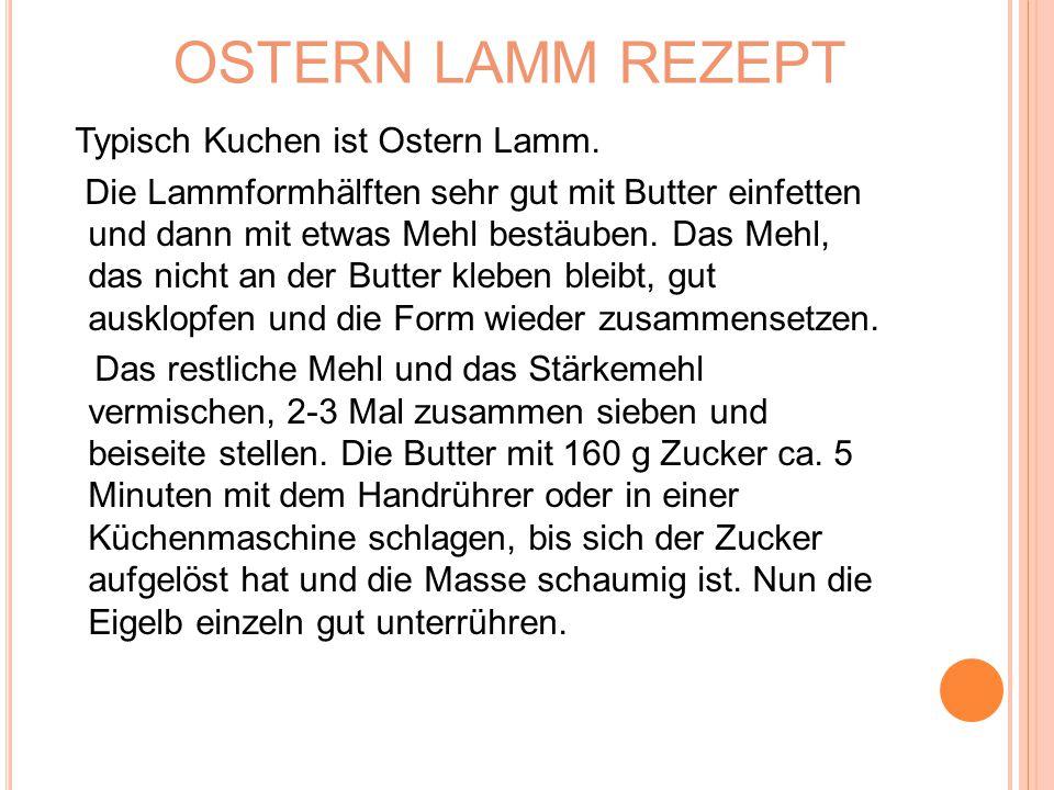 OSTERN LAMM REZEPT