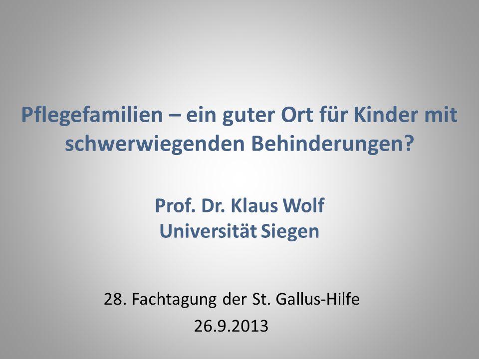 28. Fachtagung der St. Gallus-Hilfe 26.9.2013