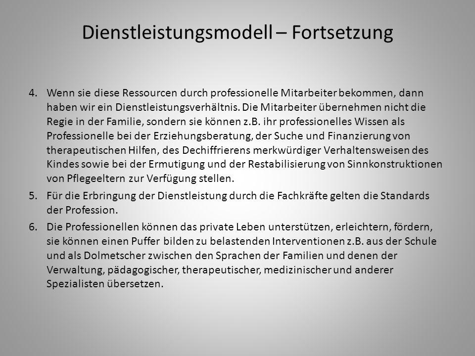 Dienstleistungsmodell – Fortsetzung