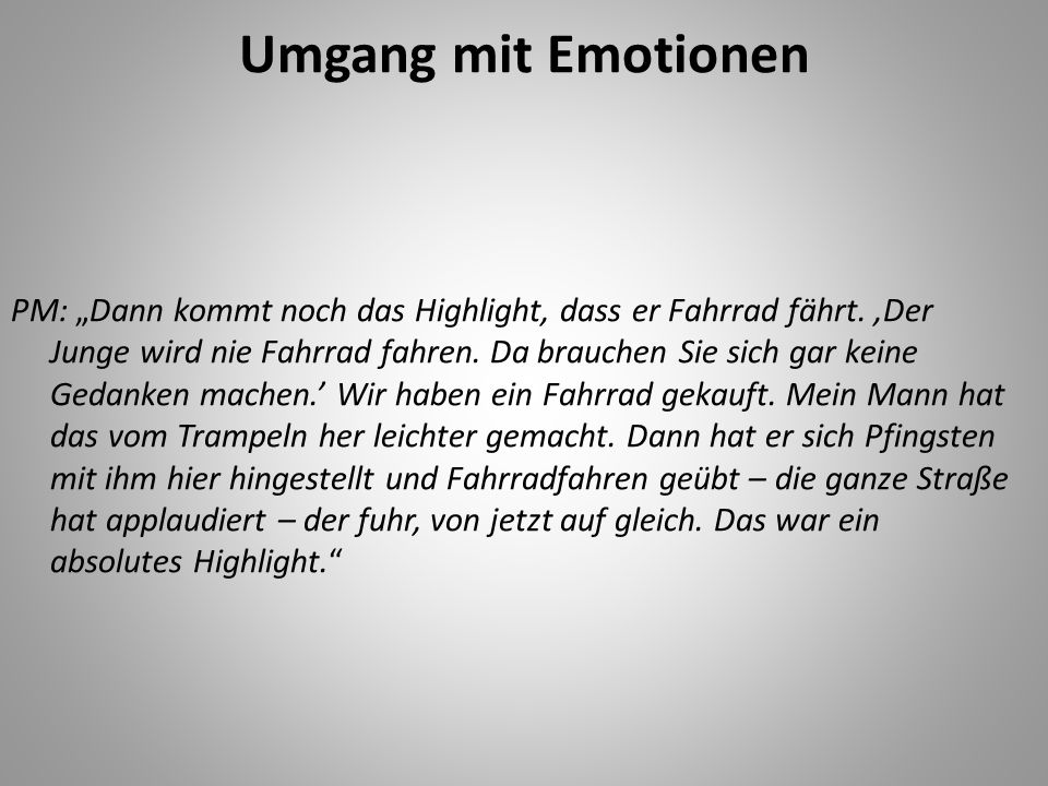 Umgang mit Emotionen