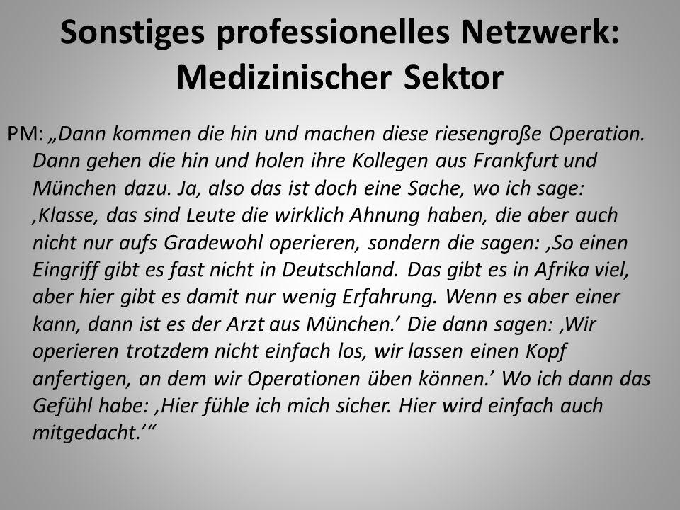 Sonstiges professionelles Netzwerk: Medizinischer Sektor