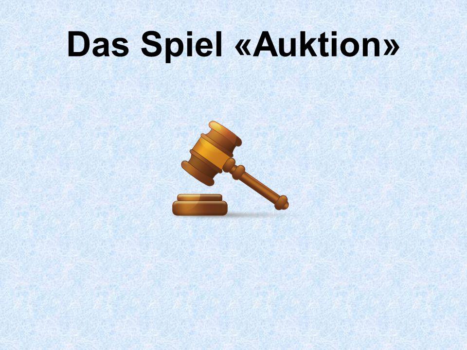 Das Spiel «Auktion»