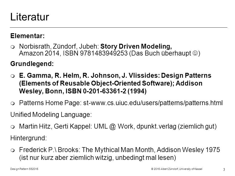 Literatur Elementar: Norbisrath, Zündorf, Jubeh: Story Driven Modeling, Amazon 2014, ISBN 9781483949253 (Das Buch überhaupt )