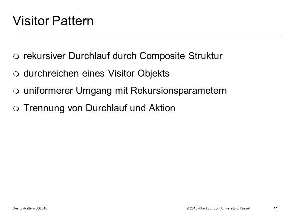 Visitor Pattern rekursiver Durchlauf durch Composite Struktur