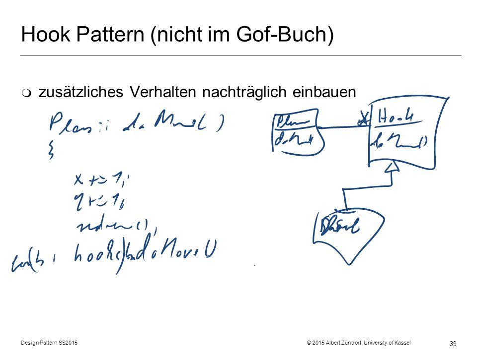 Hook Pattern (nicht im Gof-Buch)