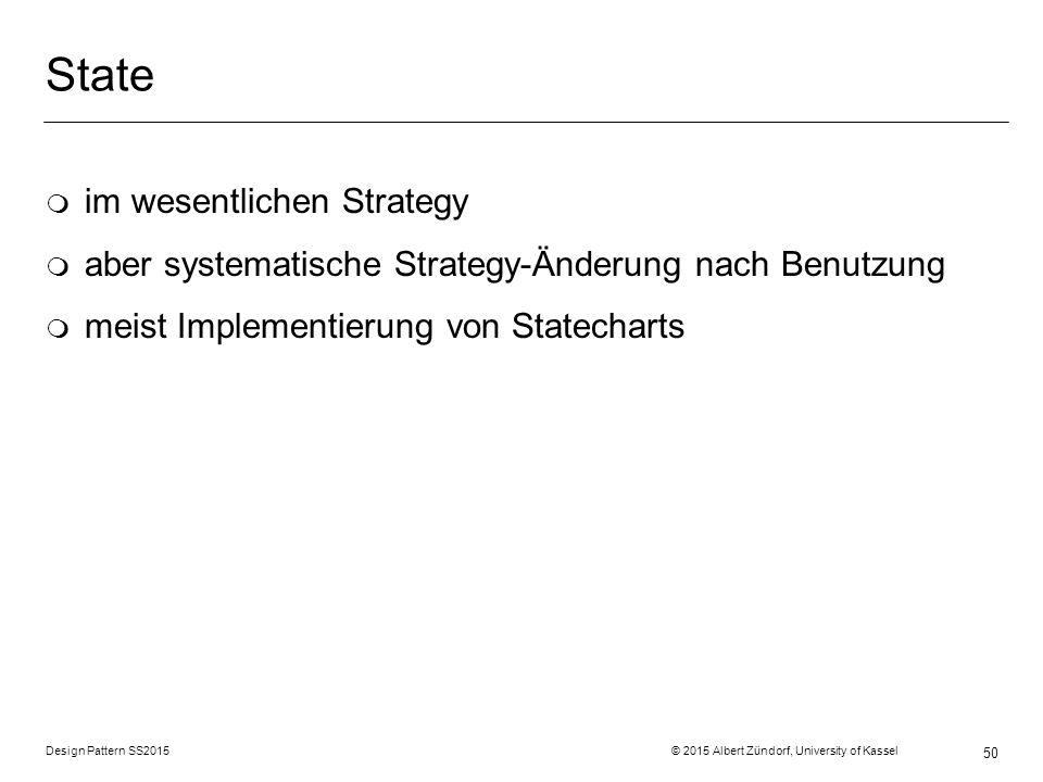 State im wesentlichen Strategy