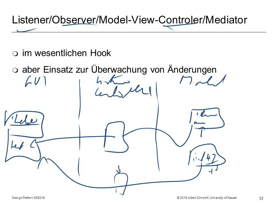 Listener/Observer/Model-View-Controler/Mediator