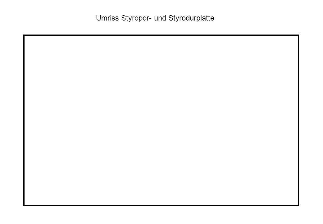 Umriss Styropor- und Styrodurplatte