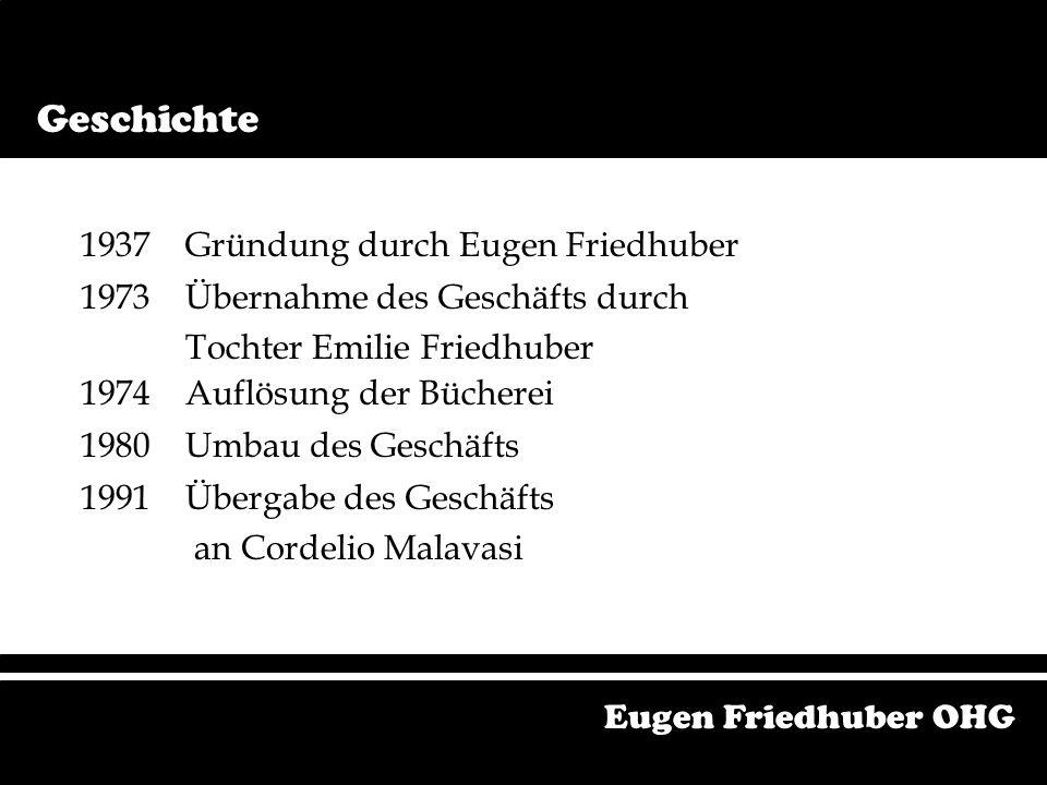 1937 Gründung durch Eugen Friedhuber