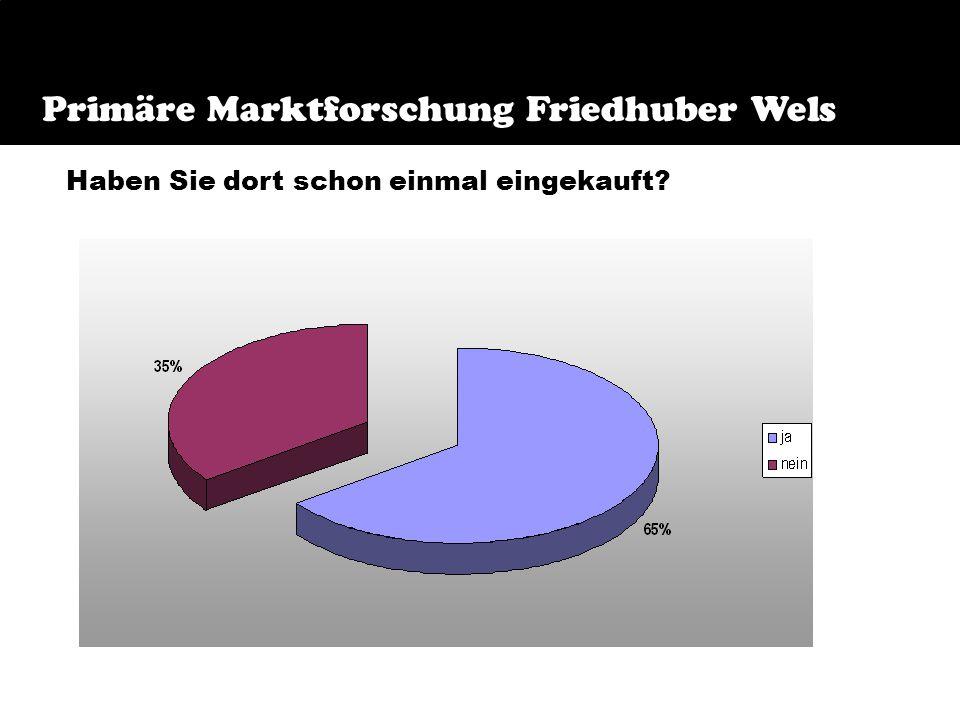 Frage 6 Primäre Marktforschung Friedhuber Wels