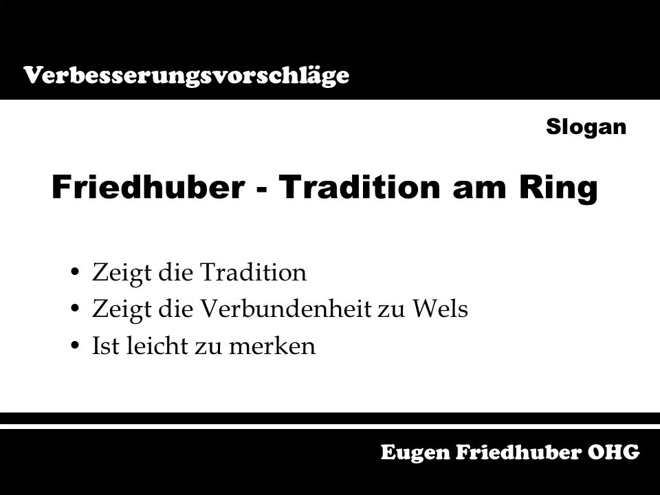 Friedhuber - Tradition am Ring