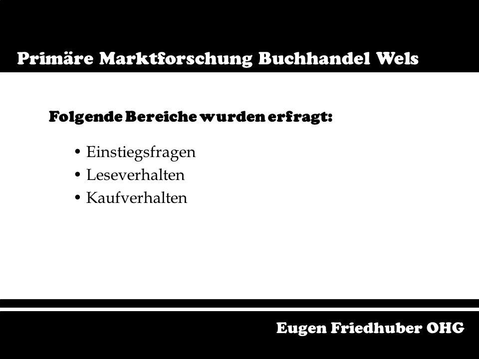 Primäre Marktforschung Buchmarkt Wels