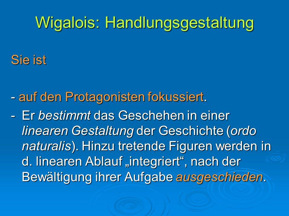 Wigalois: Handlungsgestaltung